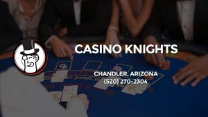 Casino & gambling-themed header image for Barons Bus Charter service to Casino Knights in Chandler, Arizona. Please call 5202702304 to contact the casino directly.)