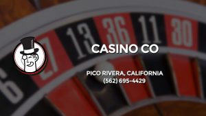 Casino & gambling-themed header image for Barons Bus Charter service to Casino Co in Pico Rivera, California. Please call 5626954429 to contact the casino directly.)