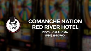 Casino & gambling-themed header image for Barons Bus Charter service to Comanche Nation Red River Hotel in Devol, Oklahoma. Please call 5802993700 to contact the casino directly.)