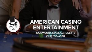 Casino & gambling-themed header image for Barons Bus Charter service to American Casino Entertainment in Norwood, Massachusetts. Please call 3126554600 to contact the casino directly.)