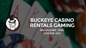 Casino & gambling-themed header image for Barons Bus Charter service to Buckeye Casino Rentals Gaming in Willoughby, Ohio. Please call 3308082614 to contact the casino directly.)