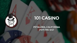 Casino & gambling-themed header image for Barons Bus Charter service to 101 Casino in Petaluma, California. Please call 7077956121 to contact the casino directly.)