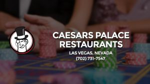 Casino & gambling-themed header image for Barons Bus Charter service to Caesars Palace Restaurants in Las Vegas, Nevada. Please call 7027317547 to contact the casino directly.)