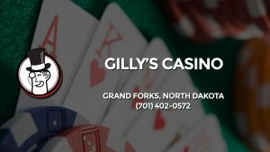 Casino & gambling-themed header image for Barons Bus Charter service to Gilly's Casino in Grand Forks, North Dakota. Please call 7014020572 to contact the casino directly.)