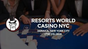 Casino & gambling-themed header image for Barons Bus Charter service to Resorts World Casino Nyc in Jamaica, New York City. Please call 7182152828 to contact the casino directly.)