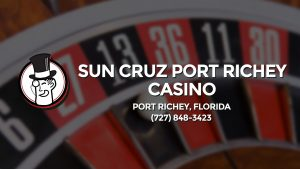 Casino & gambling-themed header image for Barons Bus Charter service to Sun Cruz Port Richey Casino in Port Richey, Florida. Please call 7278483423 to contact the casino directly.)