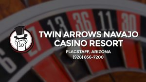 Casino & gambling-themed header image for Barons Bus Charter service to Twin Arrows Navajo Casino Resort in Flagstaff, Arizona. Please call 9288567200 to contact the casino directly.)