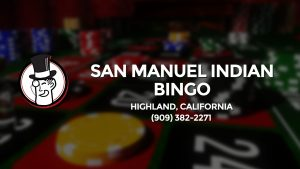 Casino & gambling-themed header image for Barons Bus Charter service to San Manuel Indian Bingo in Highland, California. Please call 9093822271 to contact the casino directly.)