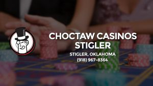 Casino & gambling-themed header image for Barons Bus Charter service to Choctaw Casinos Stigler in Stigler, Oklahoma. Please call 9189678364 to contact the casino directly.)
