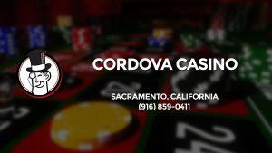 Casino & gambling-themed header image for Barons Bus Charter service to Cordova Casino in Sacramento, California. Please call 9168590411 to contact the casino directly.)