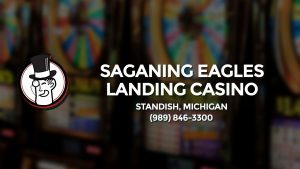 Casino & gambling-themed header image for Barons Bus Charter service to Saganing Eagles Landing Casino in Standish, Michigan. Please call 9898463300 to contact the casino directly.)