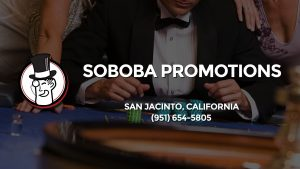 Casino & gambling-themed header image for Barons Bus Charter service to Soboba Promotions in San Jacinto, California. Please call 9516545805 to contact the casino directly.)