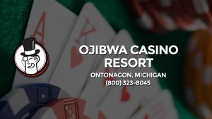Casino & gambling-themed header image for Barons Bus Charter service to Ojibwa Casino Resort in Ontonagon, Michigan. Please call 8003238045 to contact the casino directly.)