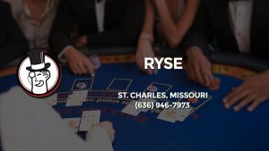 Casino & gambling-themed header image for Barons Bus Charter service to Ryse in St. Charles, Missouri. Please call 6369467973 to contact the casino directly.)