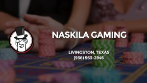 Casino & gambling-themed header image for Barons Bus Charter service to Naskila Gaming in Livingston, Texas. Please call 9365632946 to contact the casino directly.)
