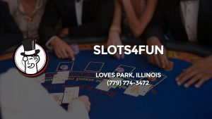 Casino & gambling-themed header image for Barons Bus Charter service to Slots4fun in Loves Park, Illinois. Please call 7797743472 to contact the casino directly.)