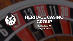 Casino & gambling-themed header image for Barons Bus Charter service to Heritage Casino Group in Buhl, Idaho. Please call 2084908515 to contact the casino directly.)