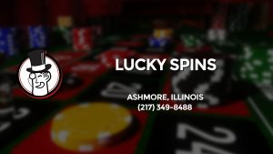 Casino & gambling-themed header image for Barons Bus Charter service to Lucky Spins in Ashmore, Illinois. Please call 2173498488 to contact the casino directly.)