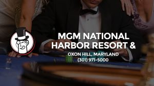 Casino & gambling-themed header image for Barons Bus Charter service to Mgm National Harbor Resort & Casino in Oxon Hill, Maryland. Please call 3019715000 to contact the casino directly.)