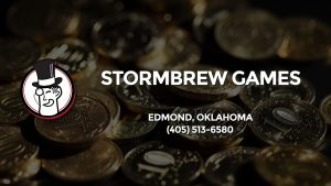 Casino & gambling-themed header image for Barons Bus Charter service to Stormbrew Games in Edmond, Oklahoma. Please call 4055136580 to contact the casino directly.)