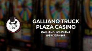 Casino & gambling-themed header image for Barons Bus Charter service to Galliano Truck Plaza Casino in Galliano, Louisiana. Please call 9853254445 to contact the casino directly.)