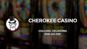 Casino & gambling-themed header image for Barons Bus Charter service to Cherokee Casino in Colcord, Oklahoma. Please call 9184225191 to contact the casino directly.)