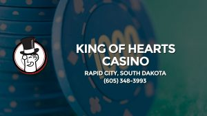 Casino & gambling-themed header image for Barons Bus Charter service to King Of Hearts Casino in Rapid City, South Dakota. Please call 6053483993 to contact the casino directly.)