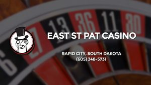 Casino & gambling-themed header image for Barons Bus Charter service to East St Pat Casino in Rapid City, South Dakota. Please call 6053485731 to contact the casino directly.)