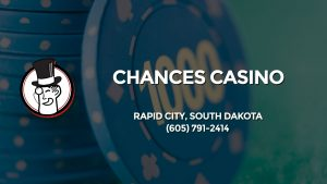 Casino & gambling-themed header image for Barons Bus Charter service to Chances Casino in Rapid City, South Dakota. Please call 6057912414 to contact the casino directly.)