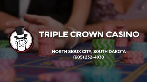 Casino & gambling-themed header image for Barons Bus Charter service to Triple Crown Casino in North Sioux City, South Dakota. Please call 6052324038 to contact the casino directly.)