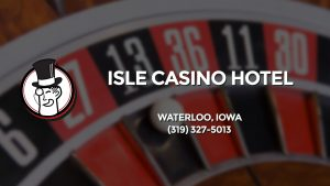 Casino & gambling-themed header image for Barons Bus Charter service to Isle Casino Hotel in Waterloo, Iowa. Please call 3193275013 to contact the casino directly.)