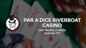 Casino & gambling-themed header image for Barons Bus Charter service to Par A Dice Riverboat Casino in East Peoria, Illinois. Please call 3096987711 to contact the casino directly.)