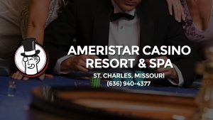 Casino & gambling-themed header image for Barons Bus Charter service to Ameristar Casino Resort & Spa in St. Charles, Missouri. Please call 6369404377 to contact the casino directly.)