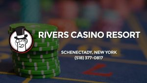 Casino & gambling-themed header image for Barons Bus Charter service to Rivers Casino Resort in Schenectady, New York. Please call 5183770817 to contact the casino directly.)