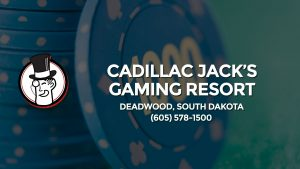 Casino & gambling-themed header image for Barons Bus Charter service to Cadillac Jack's Gaming Resort in Deadwood, South Dakota. Please call 6055781500 to contact the casino directly.)