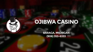 Casino & gambling-themed header image for Barons Bus Charter service to Ojibwa Casino in Baraga, Michigan. Please call 9063536333 to contact the casino directly.)