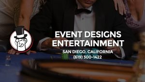 Casino & gambling-themed header image for Barons Bus Charter service to Event Designs Entertainment in San Diego, California. Please call 6193001422 to contact the casino directly.)