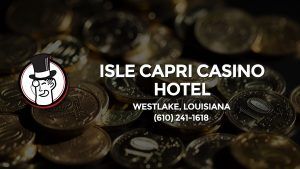 Casino & gambling-themed header image for Barons Bus Charter service to Isle Capri Casino Hotel in Westlake, Louisiana. Please call 6102411618 to contact the casino directly.)