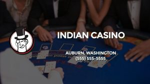 Casino & gambling-themed header image for Barons Bus Charter service to Indian Casino in Auburn, Washington. Please call 5555555555 to contact the casino directly.)