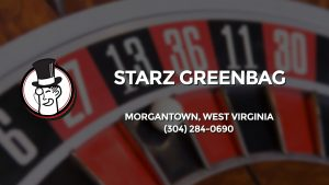 Casino & gambling-themed header image for Barons Bus Charter service to Starz Greenbag in Morgantown, West Virginia. Please call 3042840690 to contact the casino directly.)