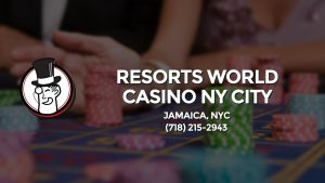 Casino & gambling-themed header image for Barons Bus Charter service to Resorts World Casino Ny City in Jamaica, Nyc. Please call 7182152943 to contact the casino directly.)