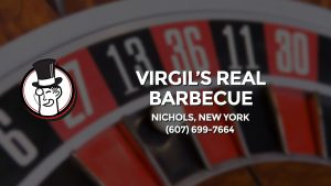 Casino & gambling-themed header image for Barons Bus Charter service to Virgil's Real Barbecue in Nichols, New York. Please call 6076997664 to contact the casino directly.)