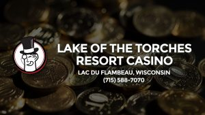 Casino & gambling-themed header image for Barons Bus Charter service to Lake Of The Torches Resort Casino in Lac Du Flambeau, Wisconsin. Please call 7155887070 to contact the casino directly.)