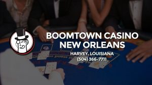Casino & gambling-themed header image for Barons Bus Charter service to Boomtown Casino New Orleans in Harvey, Louisiana. Please call 5043667711 to contact the casino directly.)