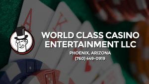 Casino & gambling-themed header image for Barons Bus Charter service to World Class Casino Entertainment Llc in Phoenix, Arizona. Please call 7604490919 to contact the casino directly.)
