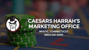 Casino & gambling-themed header image for Barons Bus Charter service to Caesars Harrah's Marketing Office in Mystic, Connecticut. Please call 8602450093 to contact the casino directly.)