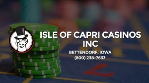 Casino & gambling-themed header image for Barons Bus Charter service to Isle Of Capri Casinos Inc in Bettendorf, Iowa. Please call 8002387633 to contact the casino directly.)