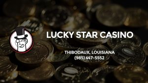 Casino & gambling-themed header image for Barons Bus Charter service to Lucky Star Casino in Thibodaux, Louisiana. Please call 9854475552 to contact the casino directly.)