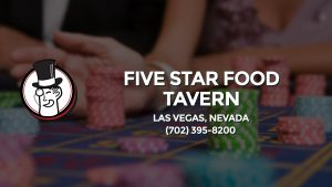 Casino & gambling-themed header image for Barons Bus Charter service to Five Star Food Tavern in Las Vegas, Nevada. Please call 7023958200 to contact the casino directly.)