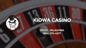 Casino & gambling-themed header image for Barons Bus Charter service to Kiowa Casino in Devol, Oklahoma. Please call 8663704077 to contact the casino directly.)